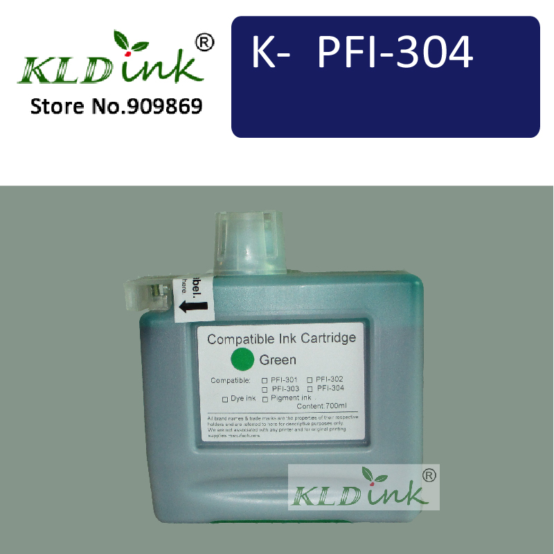 KLDINK - Compatible Ink Cartridge Replacement for PFI-306G ( PFI-304 ) for imagePROGRAF iPF8400, iPF8300, iPF8400 printers<br>