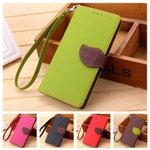 Leaf Clasp PU Leather Case for Samsung S4 Mini Case I9190 with 2 Card Holders Wallet Cover for Samsung Galaxy S4 Mini Case