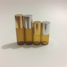 10pcs/lot 3ml 5ml Mini Essential Oil Roller Bottles In Refillable Empty Cosmetic Bottles Perfume Bottles Wholesale(China)