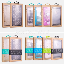 Colorful Personality Design Luxury PVC Window Packaging Retail Package Paper Box for iPhone 6 7 Cell Phone Case Gift Pack 100pcs