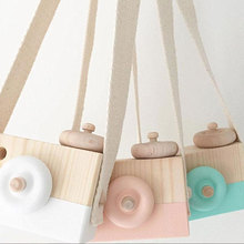 Children Kids Photography Props Wooden Camera Camcorder Practical Photo Studio Kits E-business Photo Background(China)