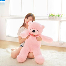 High quality 120cm Giant teddy bear soft plush toys Life teddy bear soft stuffed Children soft Plush Toys For Valentine Gift(China)