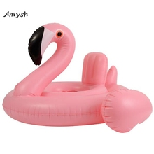 Amysh Baby kids Summer Flamingo Seat Float Inflatable baby safe swimming rings Infant &Toddlers Swim Circle Pool inflatable toy(China)
