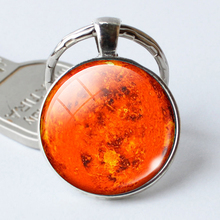 Venus Pendant,Glass Cabochon Key Chains Venus Jewelry Galaxy Universe Space Planet  Keyrings  Birthday Gift for Men for Women