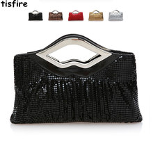 Summer European and American fashion fold aluminium sequins aslant female bag to marry the bride will take dinner bag dress bag