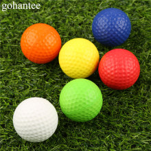 gohantee 20Pieces (1Bag) Light Golf Practice Balls for Indoor Outdoor Training Elastic PU Foam Golf Balls Soft Sponge Golf Balls