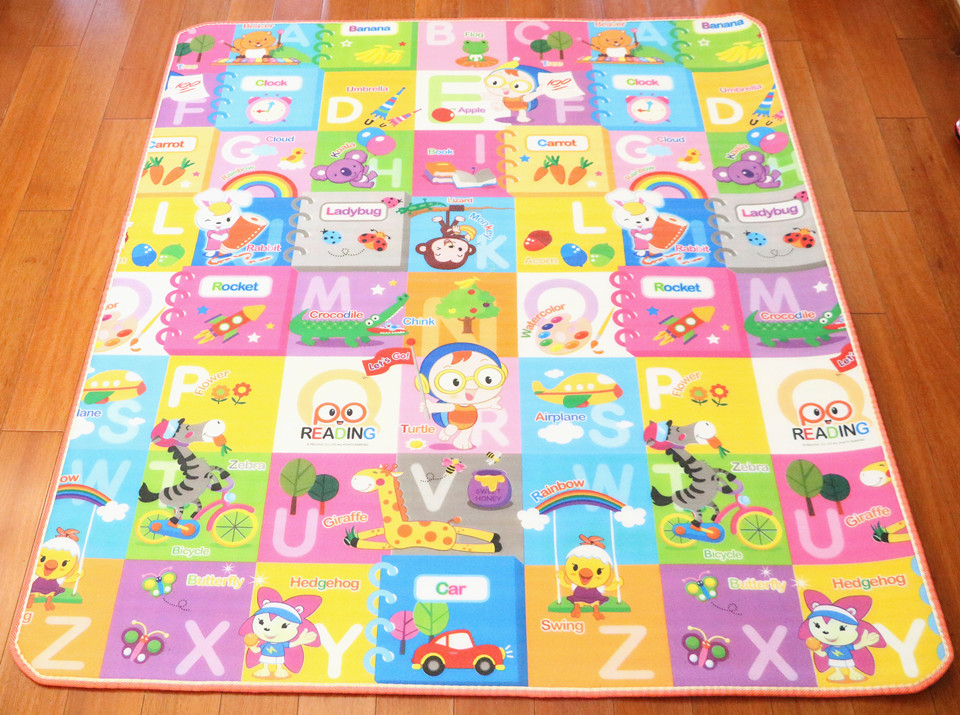 10 mm Thick Double Sides Children Play Mat Waterproof Kids Beach Picnic Mat Soft Eva Foam Carpet Rug Baby Crawling Mat Baby Toy 40