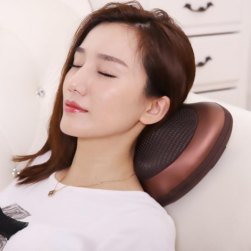 SUNWTR Electric Kneading Neck Shoulder Back  Lumbar Leg Massager Infrared Heating Shiatsu Massage Pillow Car home Relax  device<br>