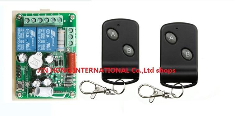 AC 220 V 10 A 2 channel RF Wireless Remote Control 1 Receiver +2 Transmitter<br><br>Aliexpress