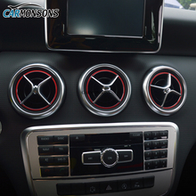 Carmonsons Air Outlet Sticker Instrument Panel Trim Decoration for Mercedes Benz A B GLA CLA Class W176 W246 X156 Car Styling(China)