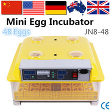 China Manufacture 48 Eggs Incubator Temperature and Humidity Alarm Poultry Hatching Incubator for Sale JN8-48