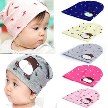 Fashion Candy Color Autumn Winter Cute Cartoon Dog Toddler Beanie Hat Warm Cap(China)