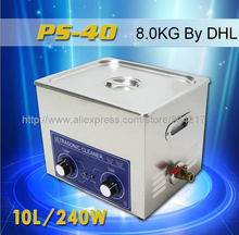 10L Ultrasonic cleaner 220V 240w PS-40 110V with timer&heating dental clinics Circuit borar free basket Commercial(China)