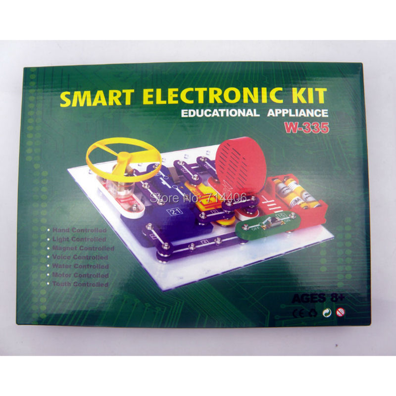 Smart electronic kit building block educational appliance toys,kid Snap Circuits Extreme assembled  toys for kids 335 projects<br>
