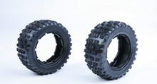 Rovan parts 1/5 gas rc baja spare parts NEW PRODUCT LT Gen.3 knobby tyres skin with inside cloth 97042(China)