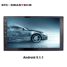 Universal 2 din 7 inch Car Radio DVD Player Audio Stereo GPS Navigation Quad Core Android 5.1.1 Lollipop HD Full Touch Screen