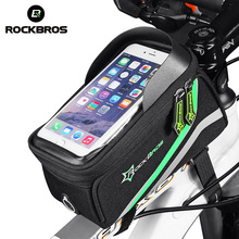 ROCKBROS Bicycle Bag For 6.0''5.8''Phone iPhone 6 Cycling MTB Road Bike Front Top Frame Crossbar Tube Bag Cycling Accessories(China)