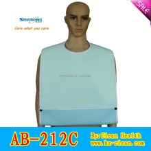 100% brushed poly quilted absorbent adult bib with PU laminating