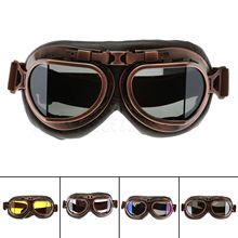 Yetaha WWII RAF Vintage Motorcycle Goggles Harley Motocross Aviator Pilot Cruiser Glasses ATV Dirt Bike Motor Helmet 5 Colors(China)