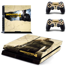 Uncharted 4 A Theft's End Vinyl Decal PS4 Skin Stickers Wrap for PlayStation 4 Console and 2 Controllers Decorative Skins