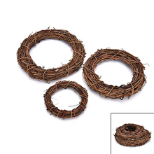 1Pc Natural Plant 10cm/15cm/20cm Christmas Wedding Wreaths Decoration Rattan Wreath Garland Material DIY Wreath Party Decoration(China)