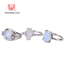 Cheap Vintage Couple Moonstone Jewelry Rings Women's Classic Opals Turkish Party Rings Luxury Trendy Female Boheme Wedding Rings