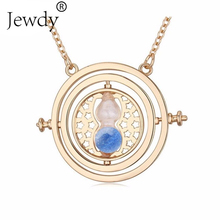 Ocean Happy Potter Colorful Hourglass Rotating Wish Necklace Unisex Jewelry Time Turner Popular Antique Pendant Necklace Gift(China)