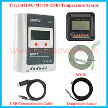 EPEVER 4210A MPPT 40A Solar Charger Controller LCD 12V24V Auto EPEVER High Efficiency Regulador Solar with MT50 100V Solar Panel(China)