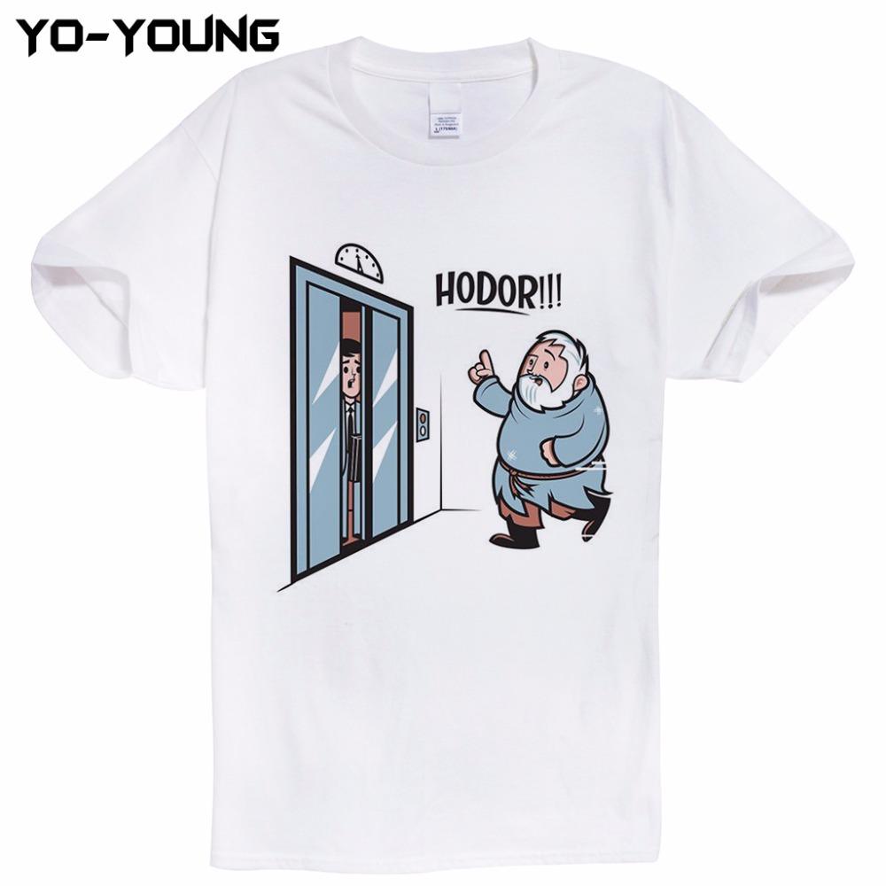 HTB1RaJfRpXXXXcBXXXXq6xXFXXXm - Game Of Thrones Hodor Jon Snow Men T Shirts Funny Design T-shirts For Men Digital Printed 100% 180g Combed Cotton Customized