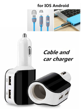 Quick Charge Car Charger 2 USB for HTC Touch Dual (CDMA)  Cigarette Lighter Power Socket Adapter for Renault S.A. Twingo Twizy