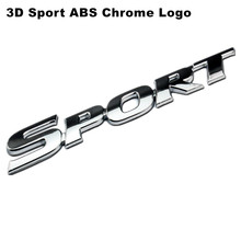 New Car Styling 3D Sport ABS Chrome Logo Car Sticker Emblem Badge Decal Auto Accessories Universal fit For Toyota Highlande