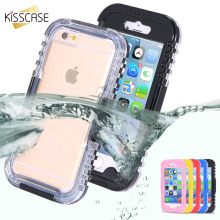 KISSCASE Waterproof Heavy Swimming Dive Case For iPhone 6 6S 7 Plus 4.7 & 5.5 Inch 5S SE 4 4S Water Dirt Shock Proof Phone Bag