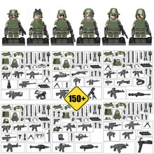 150+Weapons! Armed Troop CF Cross Fire Jungle Commandos Camouflage Military Army Figure Building Block Toy for boy Kid Xmas Gift(China)