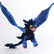 Deluxe How to Train Your Dragon Night Fury Plush Toy Toothelss Dragon Stuffed Animals 54 CM Children Birthday Gift