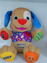 Goldbuddy Czech Speaking Singing Toy Baby Boy Girl Stuffed Puppy Musical Dog Doll Educational