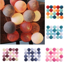 4 Colors 20Pcs/lot Led Cotton Ball String Light Christmas Decoration String Lights Fairy Lamp Strings Lighting(China)