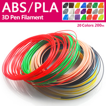 Quality product pla/abs 1.75mm 20 colors 3d printer filament pla 1.75mm 3d pen plastic 3d printer abs filament 3d filament abs(China)