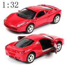 High simulation Supercar Cheap cars world's cars 1:32 alloy pull back model car open the door Diecast cars free shipping