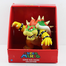 Free Shipping Super Mario Bros Koopa Bowser PVC Action Figure Toy 23cm New in Box For Kids Gift(China)