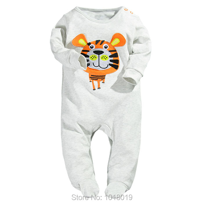 Branded Quality 100% Combed Cotton Ropa Bebe Newborn Baby Boy Clothing Clothes Creepers Jumpsuits Baby Boys Rompers Long Sleeve<br><br>Aliexpress