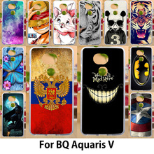 AKABEILA Case For BQ Aquaris V Cases Silicone Soft TPU Covers 5.2 inch Flags Smile Face Painted Covers Bags Shell Skin Hood(China)
