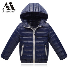 Light children's winter jackets Kids 90% Duck Down Coat Baby Winter Jacket For Girls parka Outerwear Hoodies Boy Coat(China)