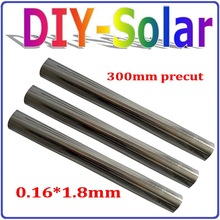 0.16*1.8mm 300mm pretcut feet Tabbing Wire ,Solar Cell Soldering Wire, Tabbing Wire, Solar Cell PV Ribbon for DIY solar panels(China)