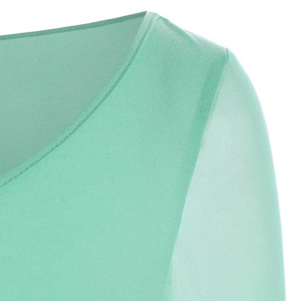 VESTLINDA Lace Flare Sleeve Sheer Panel Blusa Top Women Blouse Shirt Blusas Mujer 2017 Plus Size Women Clothing Summer Blouses 4