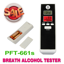New Backlight Alcohol Tester breathalyzer Alcohol Detector Dual LCD display Clock Temperature, Free shipping!(China)