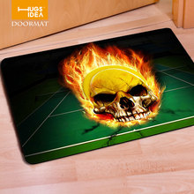 HUGSIDEA Tapis Creative 3D Cool Skull Printed Non-slip Floor Carpets for Living Room Bedroom Kitchen European Style Entrance Mat