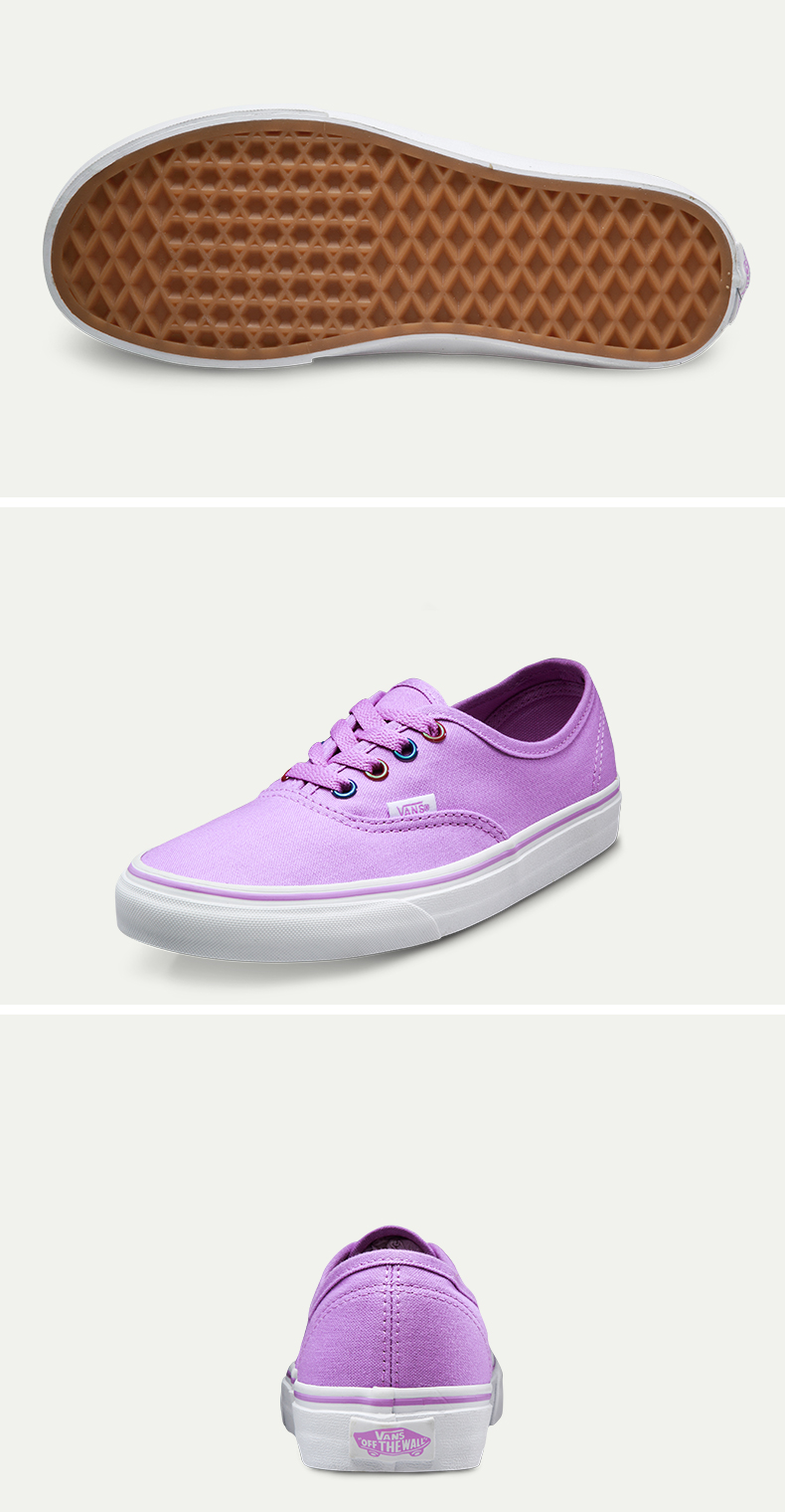 Original Vans New Arrival Black and Purple Low-Top Women's Skateboarding Shoes Sport Shoes Canvas Shoes Sneakers free shipping