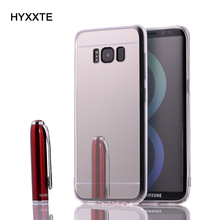 HYXXTE 100PCS Soft TPU Mirror Case Cover for Samsung Galaxy S8/S8 Plus Shockproof Elegant Bling Protective Shell with Dust Cap