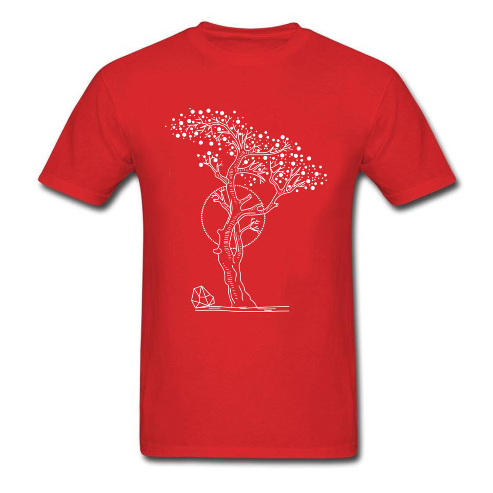 Pointilism Tree Life_red