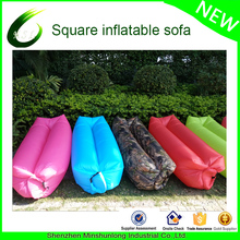 Hot New air sofa bag protable inflatable banana sleeping bag air filled bed laybag wind bed Inflatable Lounger Couch hammock
